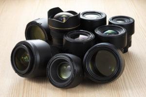 カメラの交換レンズ
