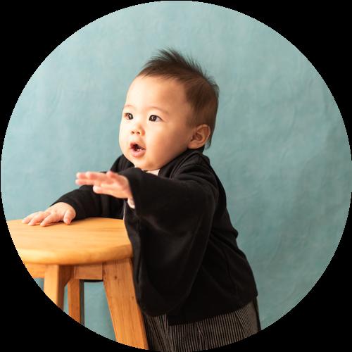 一歳のバースデー記念写真B
