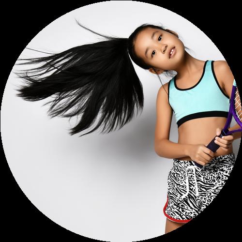 テニスの得意な女の子A